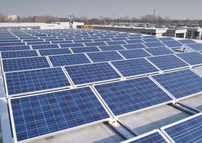 swiptec Photovoltaikanlage auf dem Firmensitz der rp Gebäudereingung GmbH